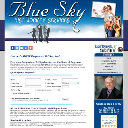 Blue Sky Disc Jockey Services - Broomfield CO Wedding Disc Jockey Photo 1