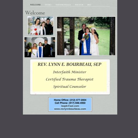 Rev. Lynn E. Bourbeau, SEP - New York NY Wedding Officiant / Clergy Photo 1