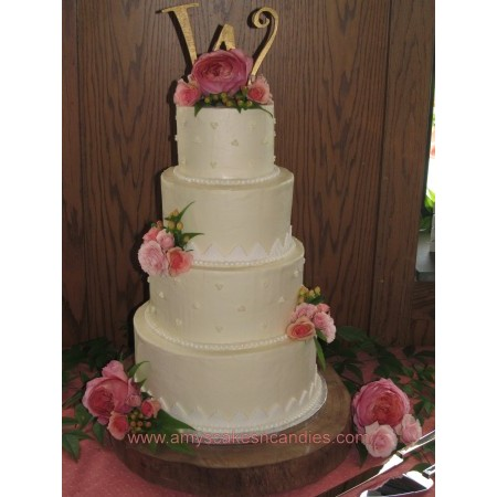 Amy's Cakes & Candies - Greensboro NC Wedding Cake Photo 2