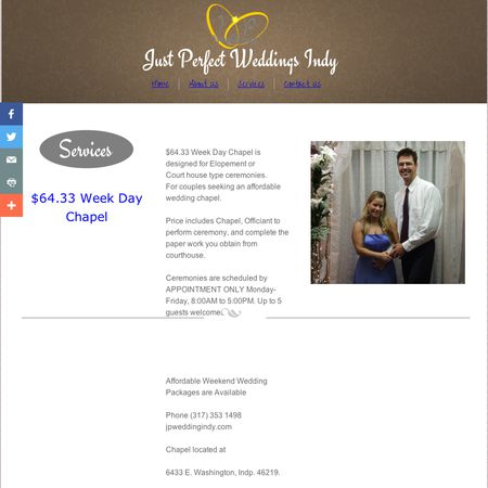 Family Chaplains, Inc dba Just Perfect Wedding - Indianapolis IN Wedding Officiant / Clergy Photo 1