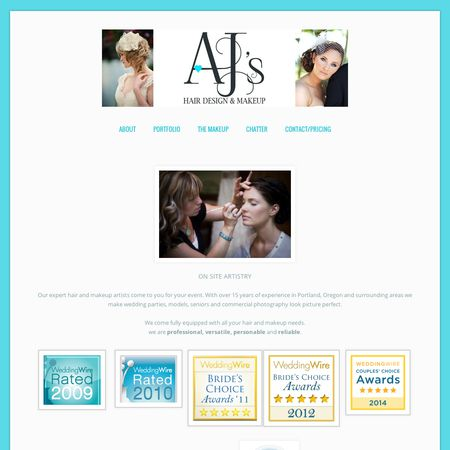 AJ's Hair Design and Makeup - Portland OR Wedding Hair / Makeup Stylist Photo 1