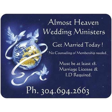 Almost Heaven Wedding Ministers - Fairmont WV Wedding Officiant / Clergy Photo 11
