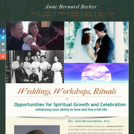 Rev. Anne B. Becker - Cincinnati OH Wedding Officiant / Clergy Photo 1