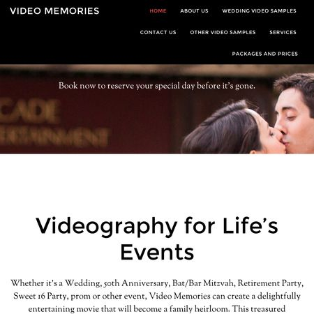 Video Memories - Burnt Hills NY Wedding Videographer Photo 1