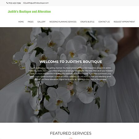 Judith's Boutique and Alteration - Vienna VA Wedding Bridalwear Photo 1