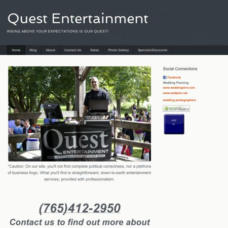 Quest Entertainment - Lafayette IN Wedding Disc Jockey Photo 1