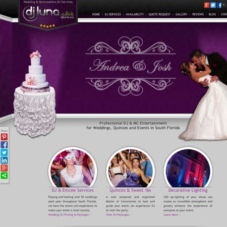 DJ Luna Entertainment - Hollywood FL Wedding Disc Jockey Photo 1