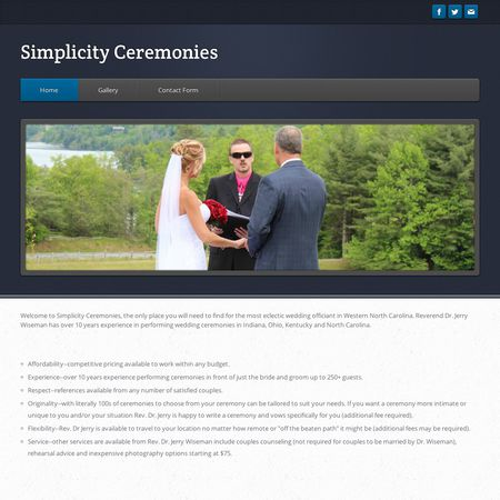 Simplicity Ceremonies - Sylva NC Wedding Officiant / Clergy Photo 1