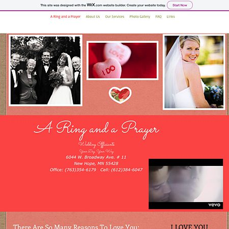 A Ring and a Prayer Wedding Officiants - Minneapolis MN Wedding Officiant / Clergy Photo 1