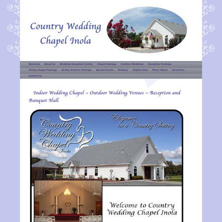 Country Wedding Chapel Inola Ok Reception Site