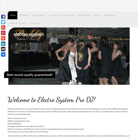 Electro System Pro DJ Service - Grawn MI Wedding Disc Jockey Photo 1
