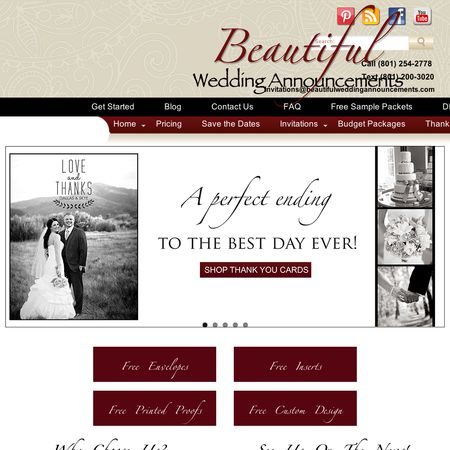 Beautiful Wedding Announcements.Beautiful Wedding Announcements Riverton Ut Wedding Invitations