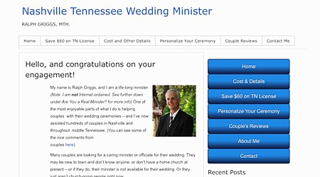 Ralph Griggs, MTh. - Wedding Minister