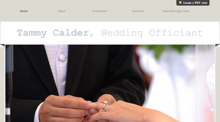 Rev. Tammy Calder, Wedding Officiant