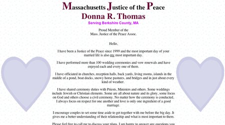 Massachusetts Justice of the Peace - Donna R. Thomas