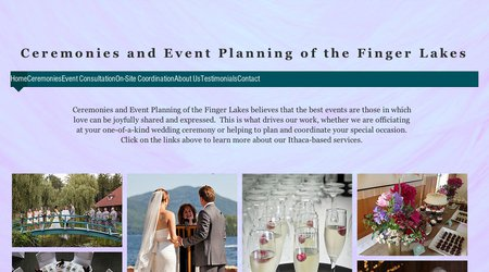 Ceremonies and Event Planning of the Finger Lakes
