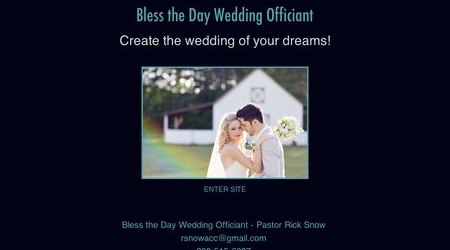 Bless the Day Weddings Officiant