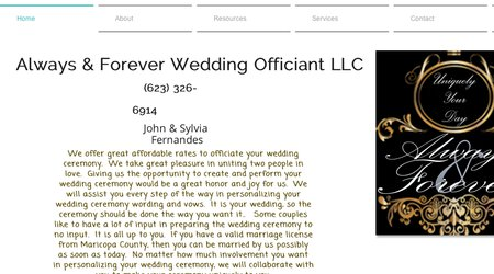 Always & Forever Wedding Officiant LLC