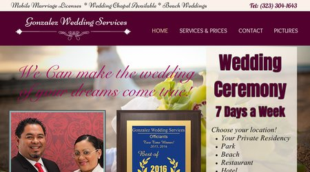 Gonzalez Wedding Services