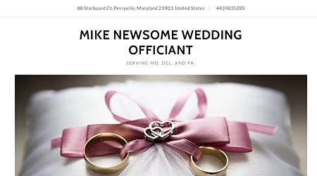 Mike Newsome wedding official