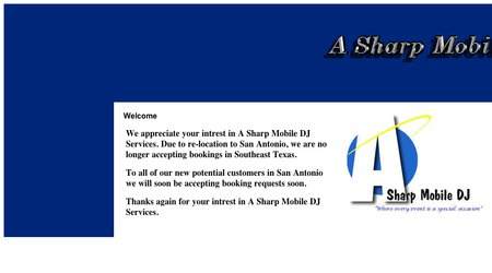 A Sharp Mobile DJ Service