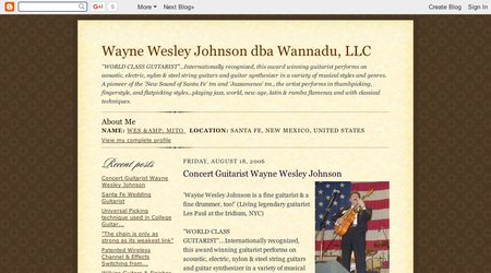 Wayne Wesley Johnson dba Wannadu, LLC (guitarist)