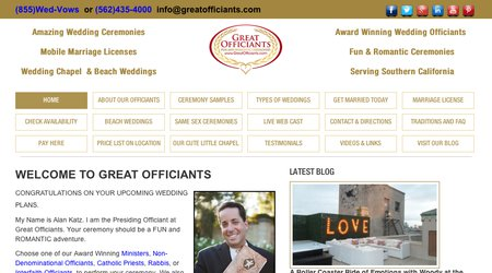 Great Officiants - Fun and Romantic Ceremonies
