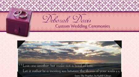 Deborah Davis, Custom Wedding Ceremonies