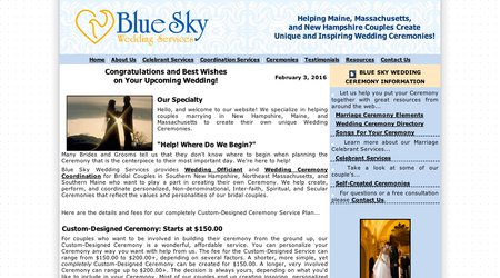 Blue Sky Wedding Services