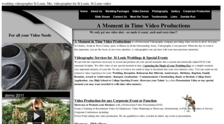 A Moment in Time Video Production