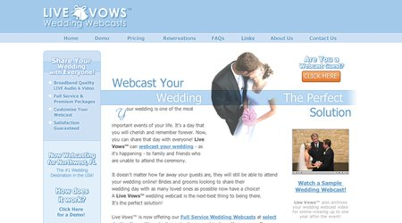 Live Vows - Wedding Webcasts