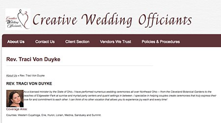 Rev. Traci Von Duyke - Creative Wedding Officiants