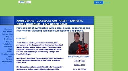John Demas Classical Guitarist