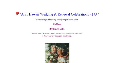 #1 Hawaii Weddings - $95