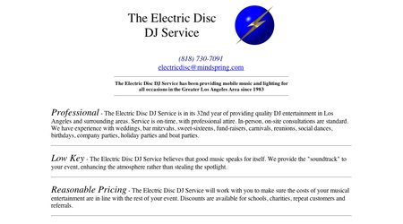 The Electric Disc DJ Service