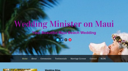 A Maui Wedding Officiant