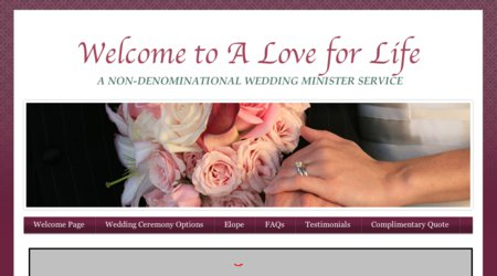 A Love For Life Wedding Minister Services