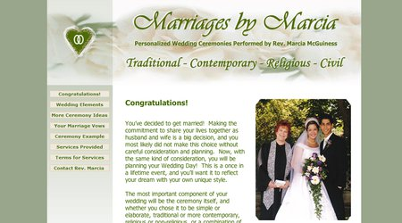 Marriages by Marcia