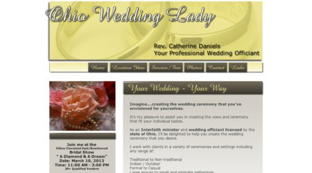 Ohio Wedding Lady - Minister/Officiant