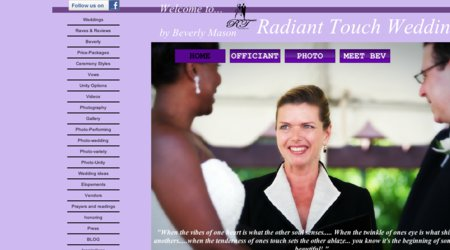Radiant Touch Wedding Officiant; Beverly Mason