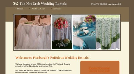 Fab Not Drab Chair Cover Rentals