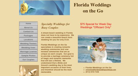 Florida Weddings on the Go
