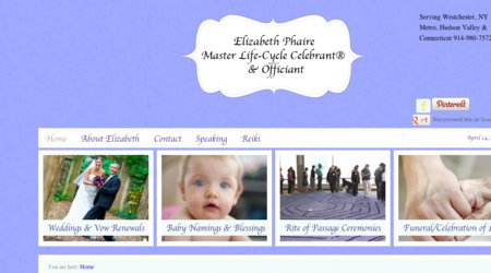 Elizabeth Phaire, Master Life-Cycle Celebrant & Wedding Officiant