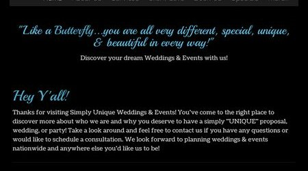 Simply Unique Weddings & Events