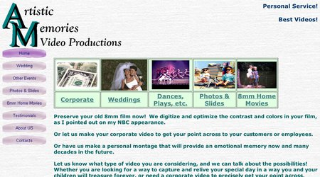 Artistic Memories Video Productions, Inc.