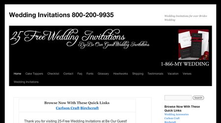 25 Free Wedding Invitations