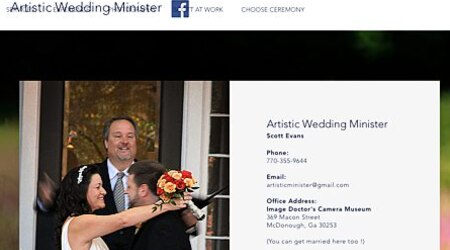 Artistic Wedding Minister, Scott Evans