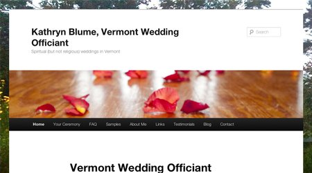 Vermont Wedding Officiant