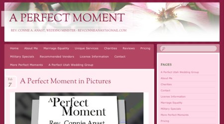 A Perfect Moment ~ Rev. Connie A. Anast