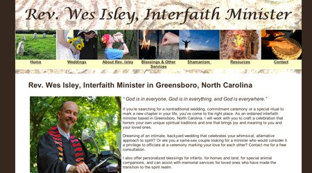 Rev. Wes Isley, Interfaith Minister